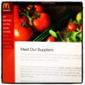 Do We Care about the McDonald's Suppliers?