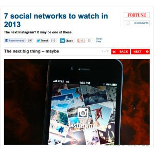 Hearsay: CNN Money with Predictions for Social Networks